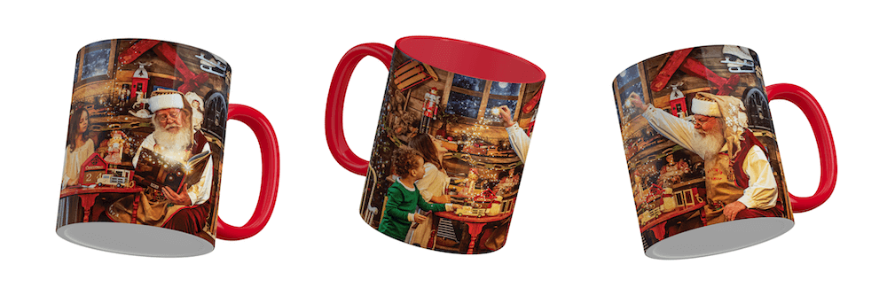 Create Christmas Mugs from your Portrait Masterpiece by Darren Bowen Photography